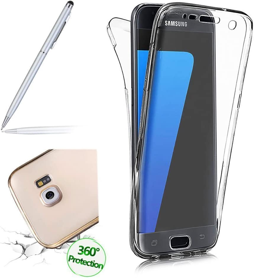 Girlyard for Samsung Galaxy S9,Crystal Slim 360 Degree Shockproof Full Body Front and Back Protective Tpu Silicone Gel Case Cover for Samsung Galaxy S9-Blue