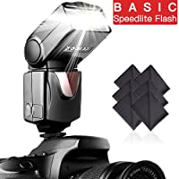 Amazon.com deals on SAMTIAN Speedlite Camera Flash Speedlight for Canon Nikon