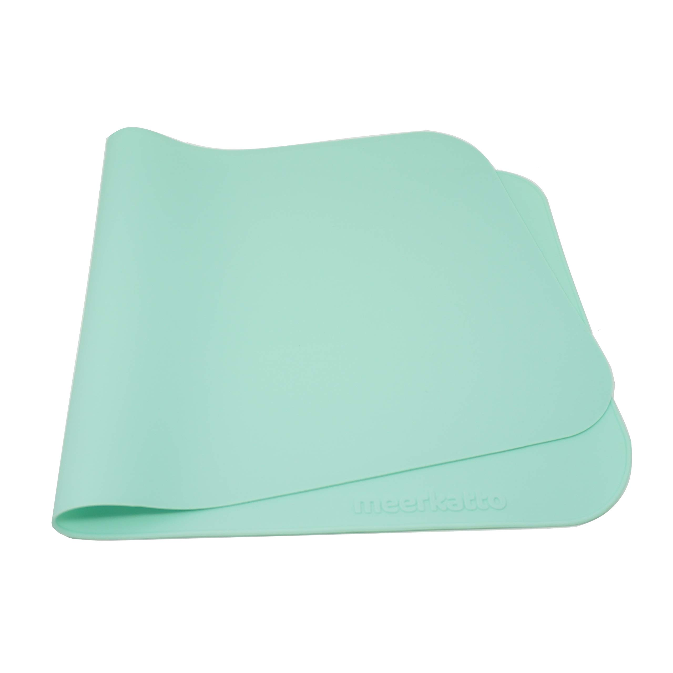 Meerkatto 100% Silicone Waterproof Changing Pad Liner (Mint) by Meerkatto