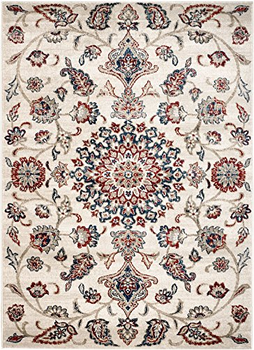 "MADISON COLLECTION DF-YUMV-3BPH 405 Crm Modern Abstract Cream Area Clearance Soft and Durable Pile. Size Option 1'.10"" x 2'.11"" Scatter Rug Door Mat"
