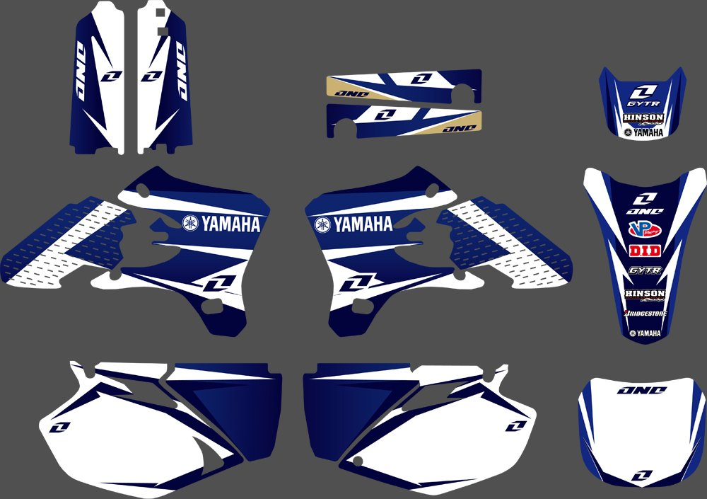 DST0228 3M Customized Motorcross Stickers Motorcycle Decals Graphics Kit for YAMAHA YZ250F YZ450F 2003 2004 2005
