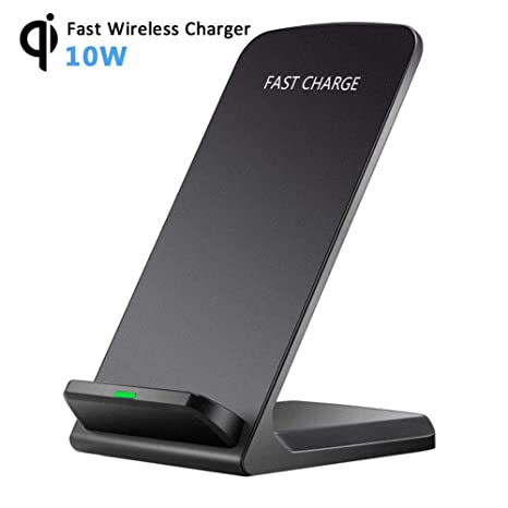 Amazon.com: Qi Fast Wireless Charger,Mayround 10W Wireless Charging Stand Pad Charge Compatible for iPhone XS Max/XR/XS/X,iPhone 8/8 Plus,Samsung S10/S10 ...