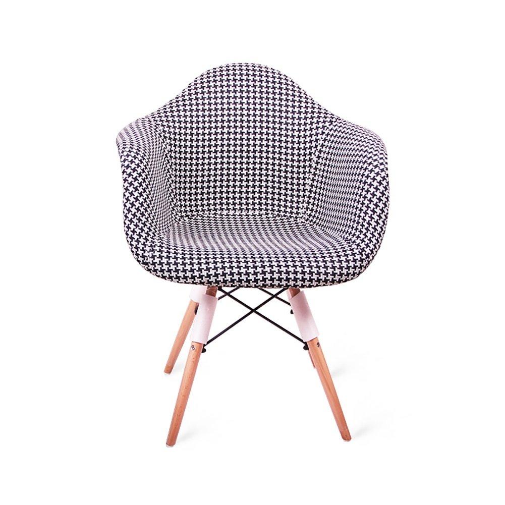 アームレストダイニングチェアカフェティーショップ西洋レストランリビングルームモダンシンプルな布アートレトロ背もたれ木製椅子 (色 : Style2, サイズ さいず : Set of 4) B07F3MCMD9 Set of 4 Style2 Style2 Set of 4