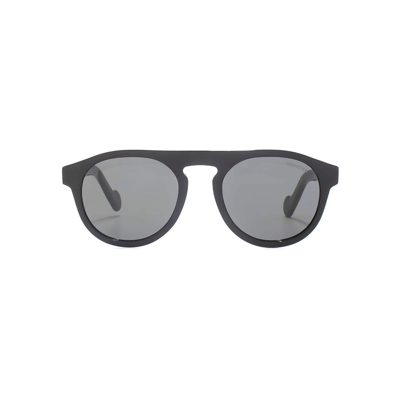1c0afaea6b Amazon.com  Moncler ML0073 Shiny Black Dark Grey 51 20 150 Unisex  Sunglasses  Watches