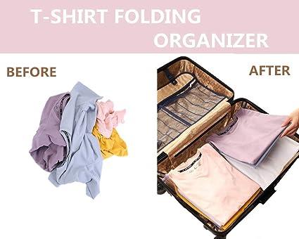 N/šilko Closet Organizer Clothing Storage,Kleidung Organisieren Klappbrett,Multifunktionale Kleidung Ordner,T-Shirt Kleidung Ordner gro/ßen Magic Schnelle W/äsche Organizer 20PCS