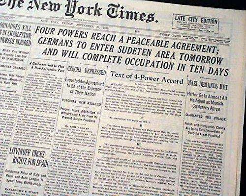Amazon Munich Agreement Adolph Hitler Benito Mussolini Nazis