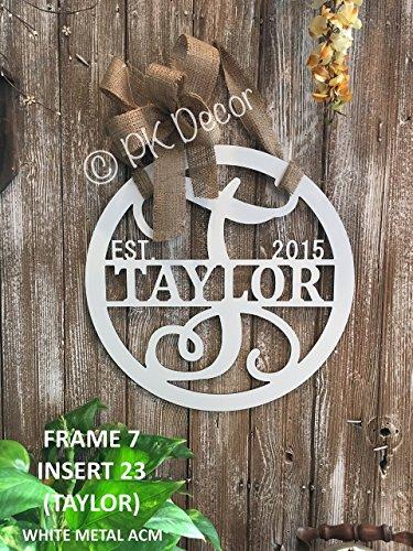 Personalized Last Name Door Hanger 24 Quot Acm Metal