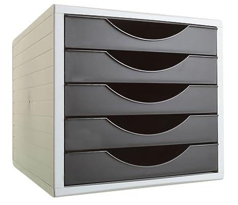 Archivo 2000 Archivotec Serie 4002 - Pack de 5 cajones, color negro