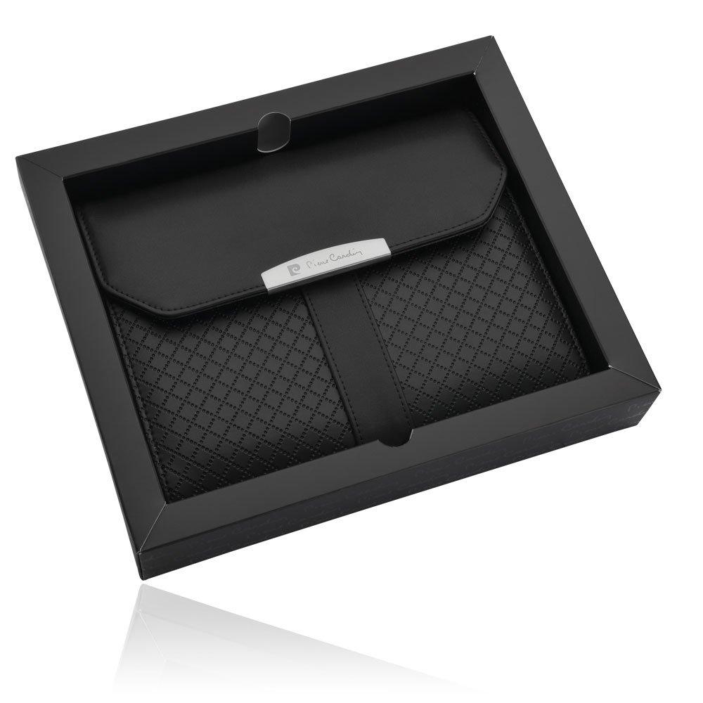 Pierre Cardin piel de portadocumentos (DIN A5 de piel y cuaderno A5, funda akten – Carpeta de documentos para tablets de hasta 8 pulgadas (iPad Mini) ...