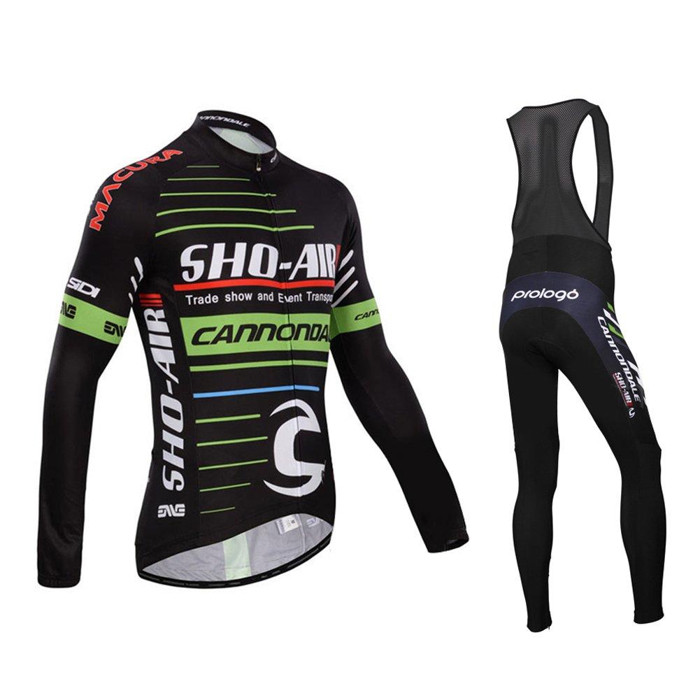 Strgao 2016メンズPro Team MTBバイク自転車冬熱サイクリング長袖ジャージーand Bibパンツタイツセットスーツ B018UCIMAO 2X-Large A A 2X-Large