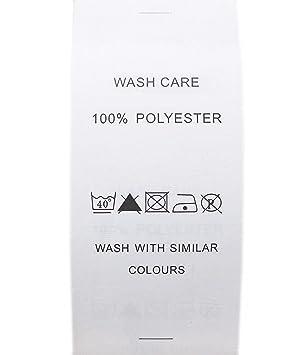 ec61745263 Waschen Pflege Etiketten Papier bedruckt, Material 100% Polyester, 40 Grad  1 bar,