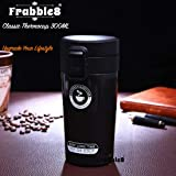Frabble8 Double Wall 300ML Vacuum Insulated Travel Stainless Steel Coffee/Tea Flask Mug, Thermos, Tumbler Hot and Cold Upto 6 Hours (Black)