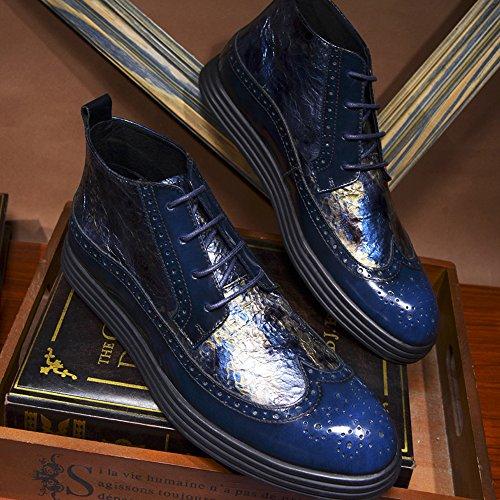 Hommes Pour Haut Chaussures Brock En Pour Pour Hommes Décontractées Les Tendance Sculpté Fond Chaussures Blue 39 Épais Chaussures Cuir Aider GOLDGOD wSUA4qxfnq