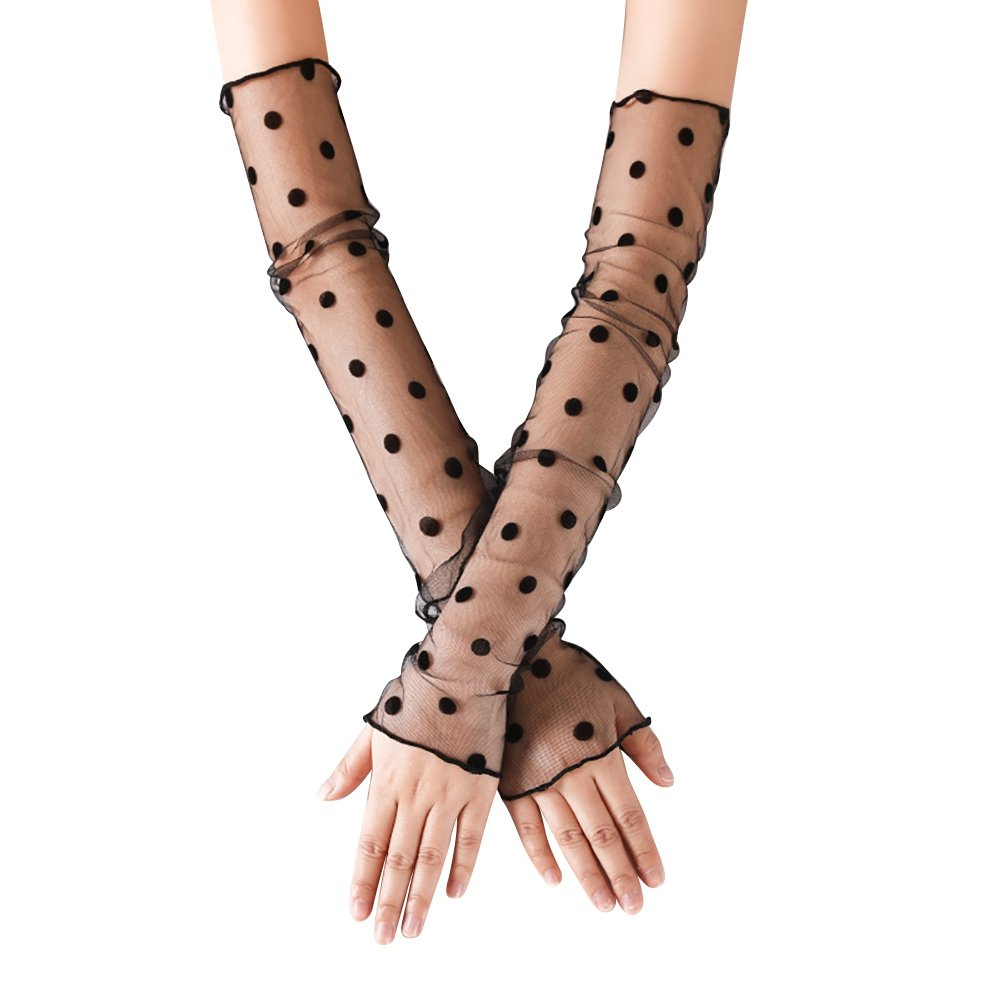 Women Lace Cooling Arm Sleeves Gloves Sun Protection Compression Sun Sleeves
