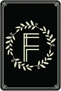 by Unbranded Metal Signage Wedding Monogram Decor, Personalized Letter F Monogram, Wall Decor Enagement Gift, Fence Signage Yard Garden Sign Party Art Poster Iron Sheet Hanging Plate