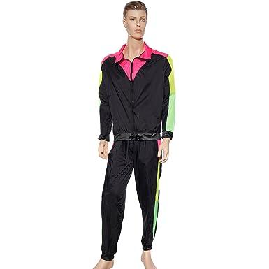 Anladia Chándal para años 80 Fitness Deporte Pantalones ...