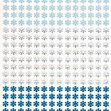 Lustrini adesivi a forma di Fiocco di Neve per Bambini, per Creazioni Fai Da Te di Natale (confezione da 280).