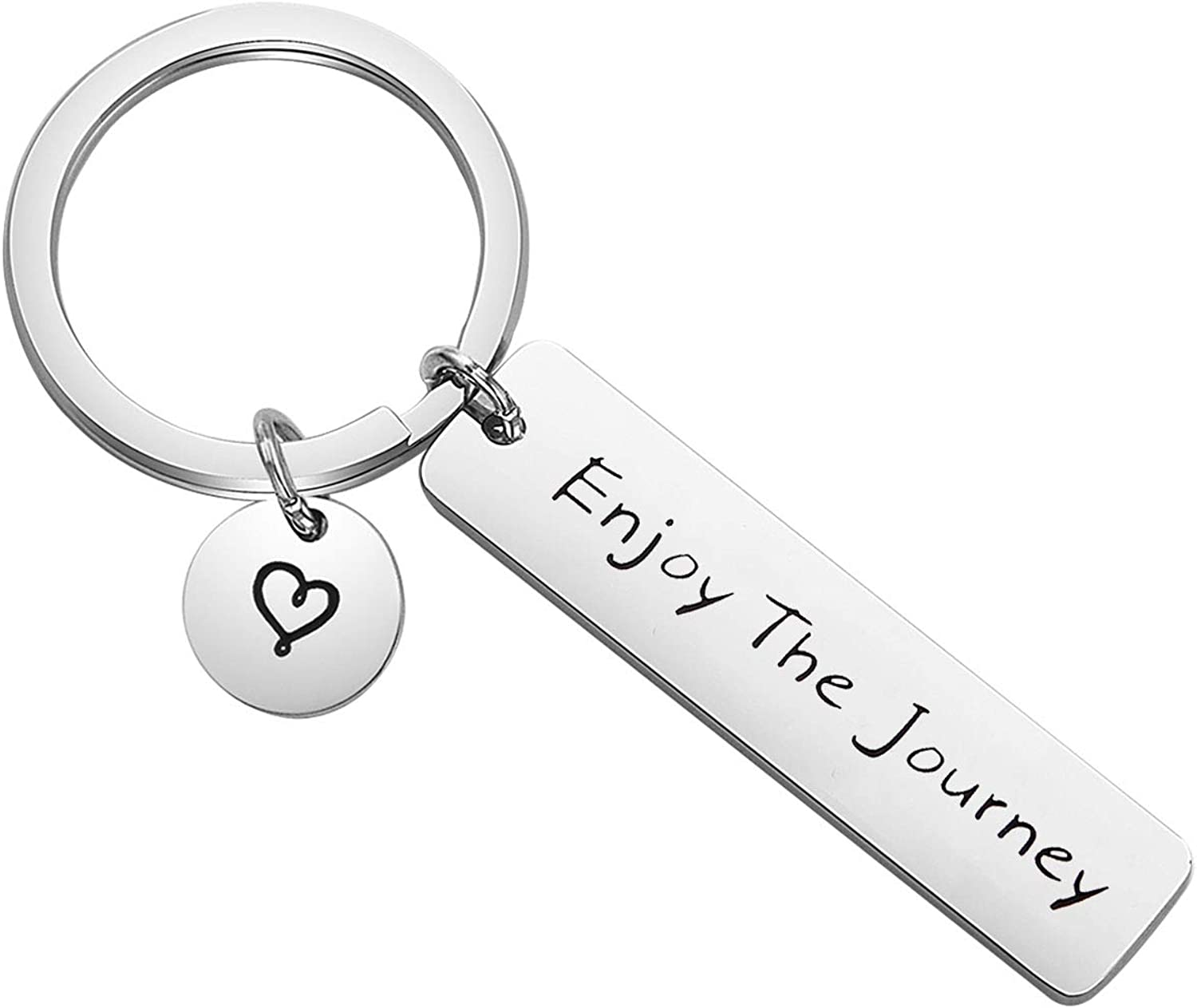 Graduation Gift Traveler Key chain Enjoy the Journey Sightseeing Gift Inspirational Adventure Seeker Gift