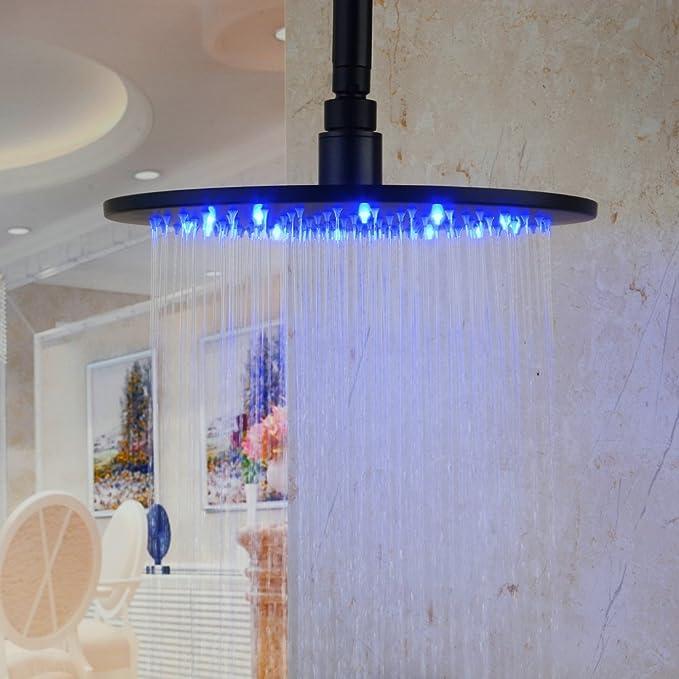 Best Led Shower Head: Hiendure Stainless Steel Rain Shower Head