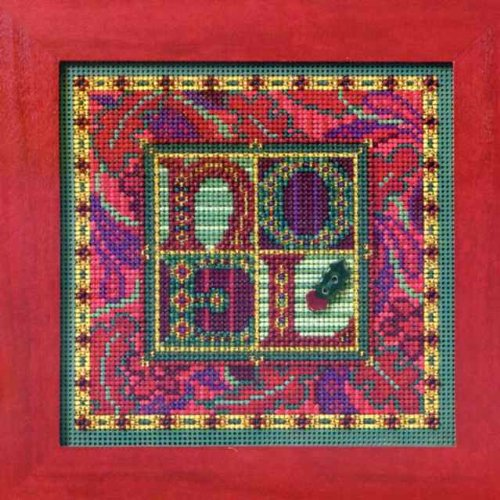 Tapestry Noel Counted Beaded Cross Stitch Kit Mill Hill MH14