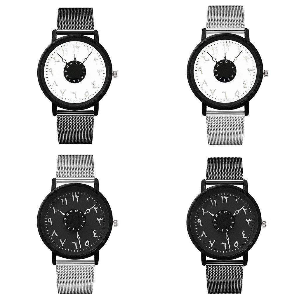 Amazon.com: Mens Watches Casual Quartz Stainless Steel Band Newv Strap: Clothing