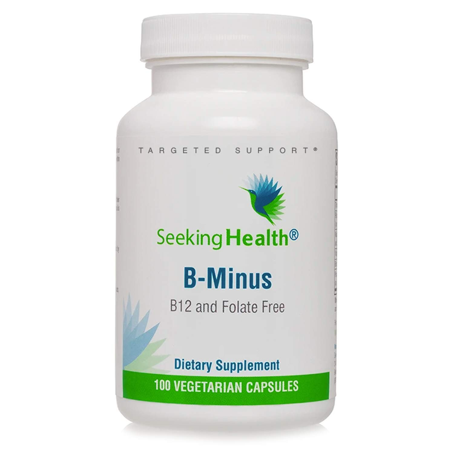Seeking Health B Minus – Vitamin B Complex – Biotin Vegetarian Capsules – Biotin Supplement for Women – Supports Metabolic Functioning* – 100 Capsules