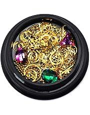 LAMEIDA Nail Glitter Set Sparkly Manicure Nail Art Decoration Mixto 6 Rhinestones de colores Pequeñas Bolas