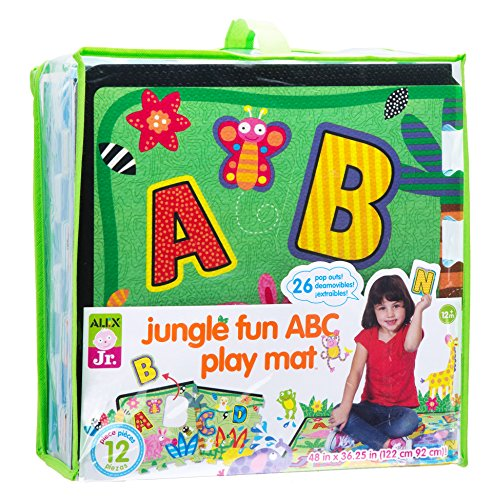 [ALEX Jr. Jungle Fun ABC Play Mat] (Animals That Start With The Letter A)