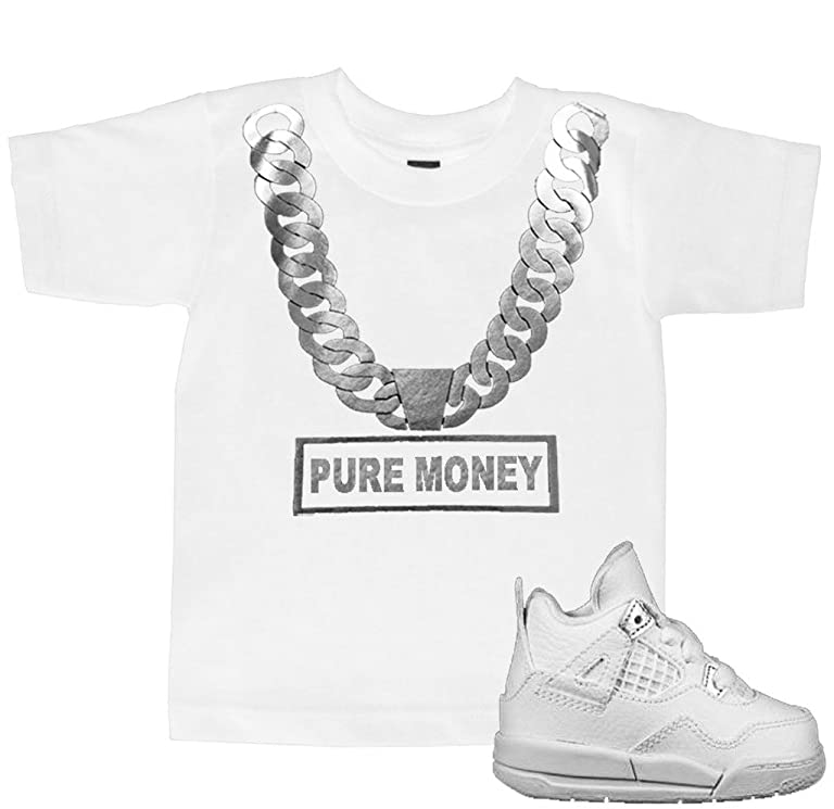 FTD Apparel Toddler's Pure Money Silver Chain T Shirt