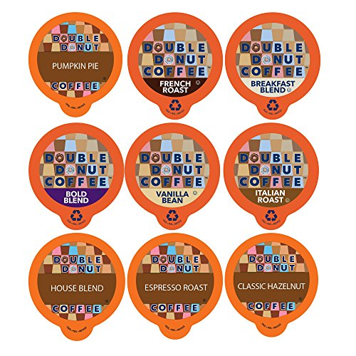 Double Donut Coffee, in Recyclable Single Serve Cups for Keurig K Cup Brewer, Variety Pack Sampler, 40 Count