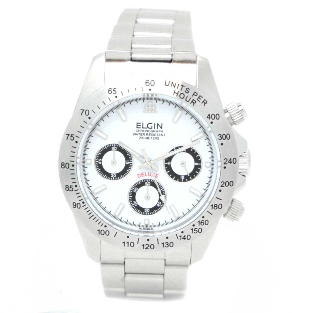 [エルジン]ELGIN 腕時計 クロノグラフ 日本製ムーブメント ウォッチ ホワイト FK1059S-W メンズ B00104X88G