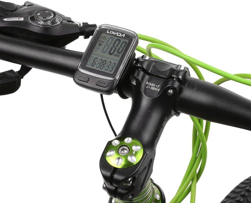 Lixada Computadora Bicicleta Multi Funciones Cableado/Inalámbrico ...