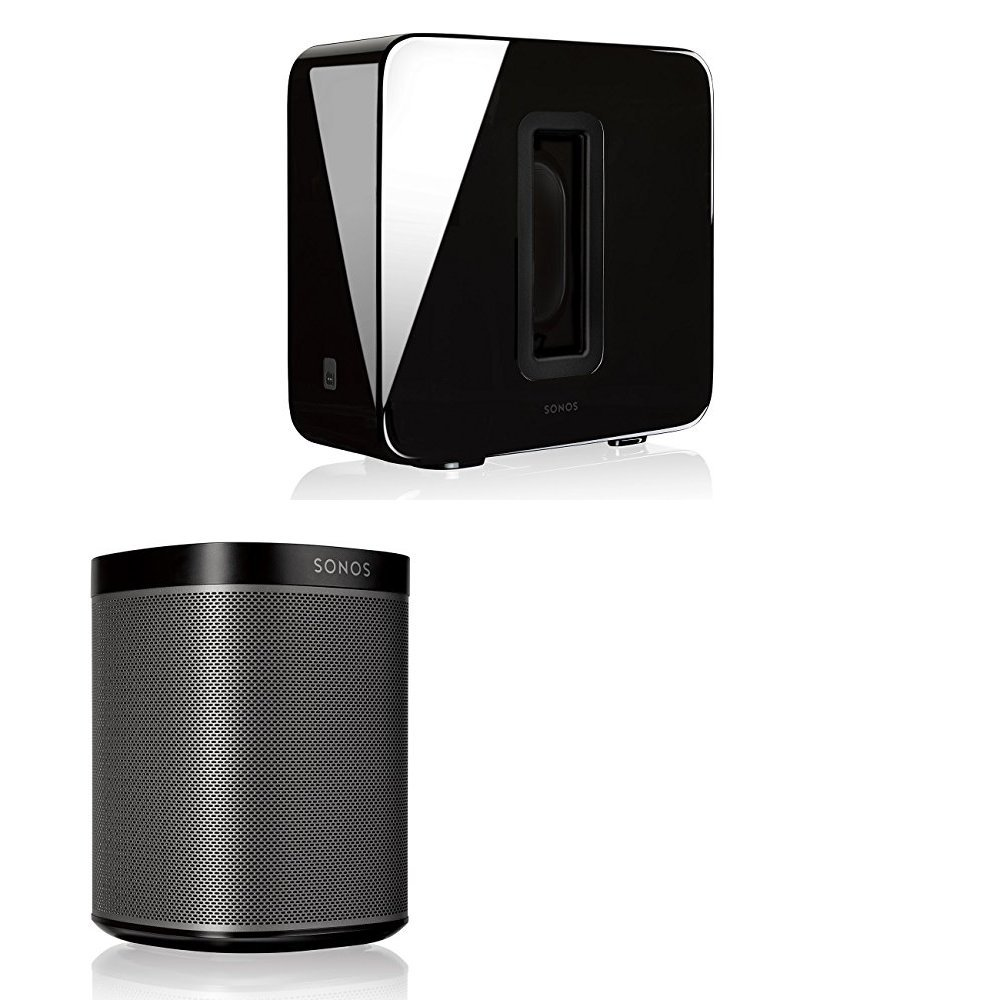 Sonos 2.1 Home Theater System PLAY:1 and SUB Combination (Black) by