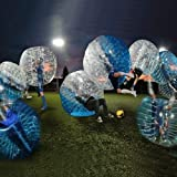 AmazingsportsTM Bubble Soccer Balls Suit dia 5 1.5m Bubble Football Ball Suit For Adults Half Blue Half Clear PVC (1.2m 1.7m available)