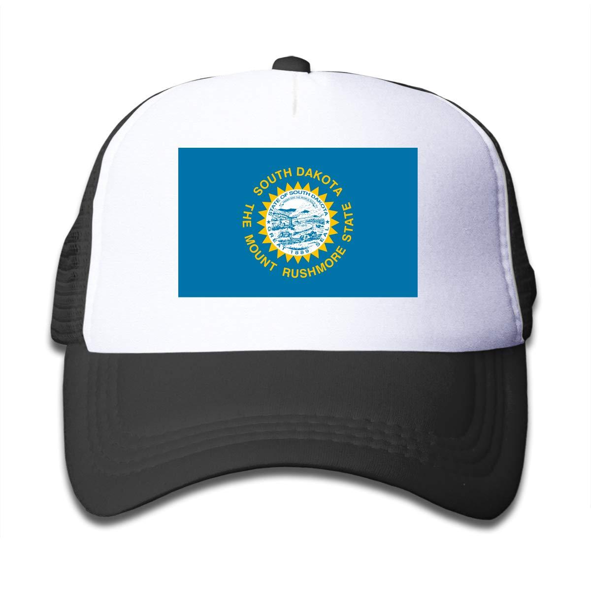 State of South Dakota Kids Girls Mesh Trucker Hats Adjustable Baseball Caps