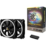 Antec Prizm 140mm RGB Case Fan Radiator - 2 Pack with Controller Hub CPU Fans at amazon