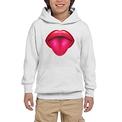 Classic Tongue  Girl Athletic With Pocket Hooded Graphic Pullover Sweatshirts