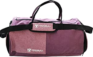 Sports Gym Bag with Shoes Compartment - Travel Duffel Bag with Compartments - Insulated Lunch Meal Compartment - for Men and Women (2-Tone Fuchsia)