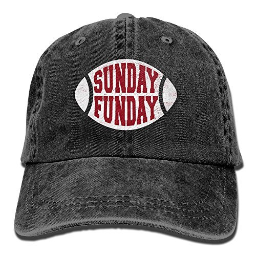 Suaop Sunday Funday Adult Vintage Washed Distressed Cotton Hat Leisure Baseball Cap Polo Style Black - Female Indiana Jones Costumes