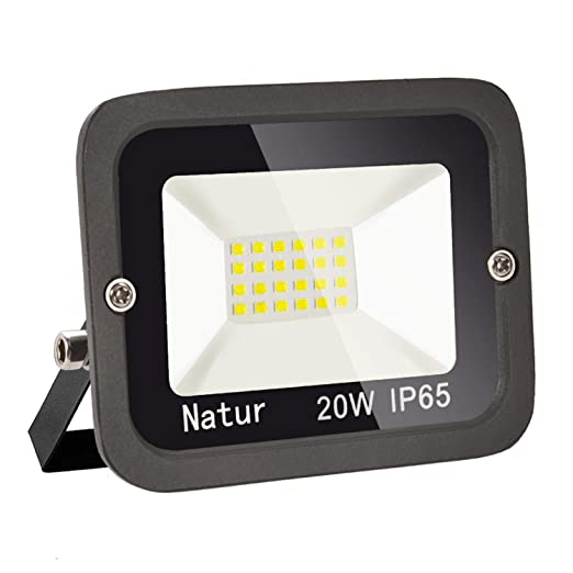 20W LED Foco exterior alto brillo Proyector led exterior de impermeable IP65,Blanco frio 3000K Iluminación led de seguridad, luz led para patio, ...