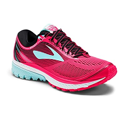 36f3d2927d233 Brooks Women s Ghost 10 Diva Pink Black Iceland Blue Athletic Shoe   Amazon.in  Shoes   Handbags