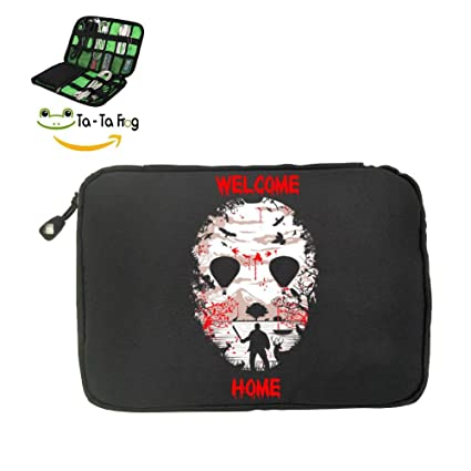 Camp Crystal Lake Fashion 3D Printing Electronics Accessories Organizer  Bag,Portable Tech Gear Phone Accessories
