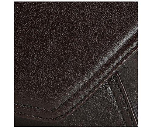 WITTCHEN Borsa classica, Marrone Scuro - Dimensione: 13x29cm - Materiale: Pelle di grano -Accomoda A4: No - 35-4-579-3