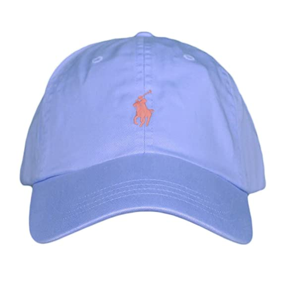 513ea2f8c75ce Ralph Lauren Casquette Bleu Ciel Logo Orange pour Homme: Amazon.fr ...