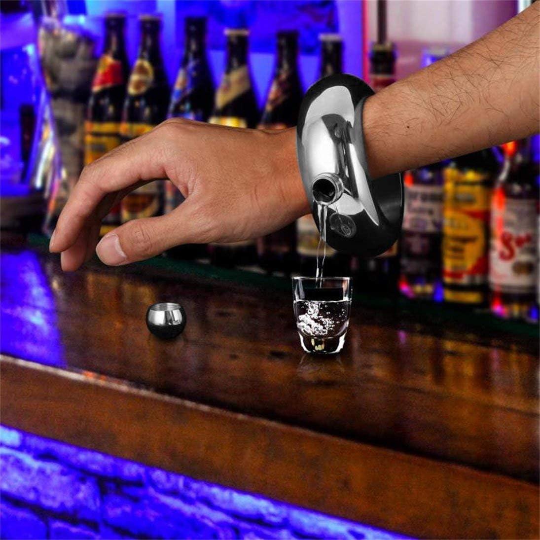 ToGames-DE 3,5 oz 100 ML Edelstahl Krug Armband Alkohol Flachmann Trichter Armreif