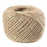 KINGSO 80M Strong Natural Brown Burlap Jute Twine Sisal String Rope