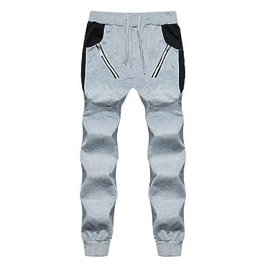 GUOCU Pantalones de Chándal de Hombres Pantalones de Deporte ...