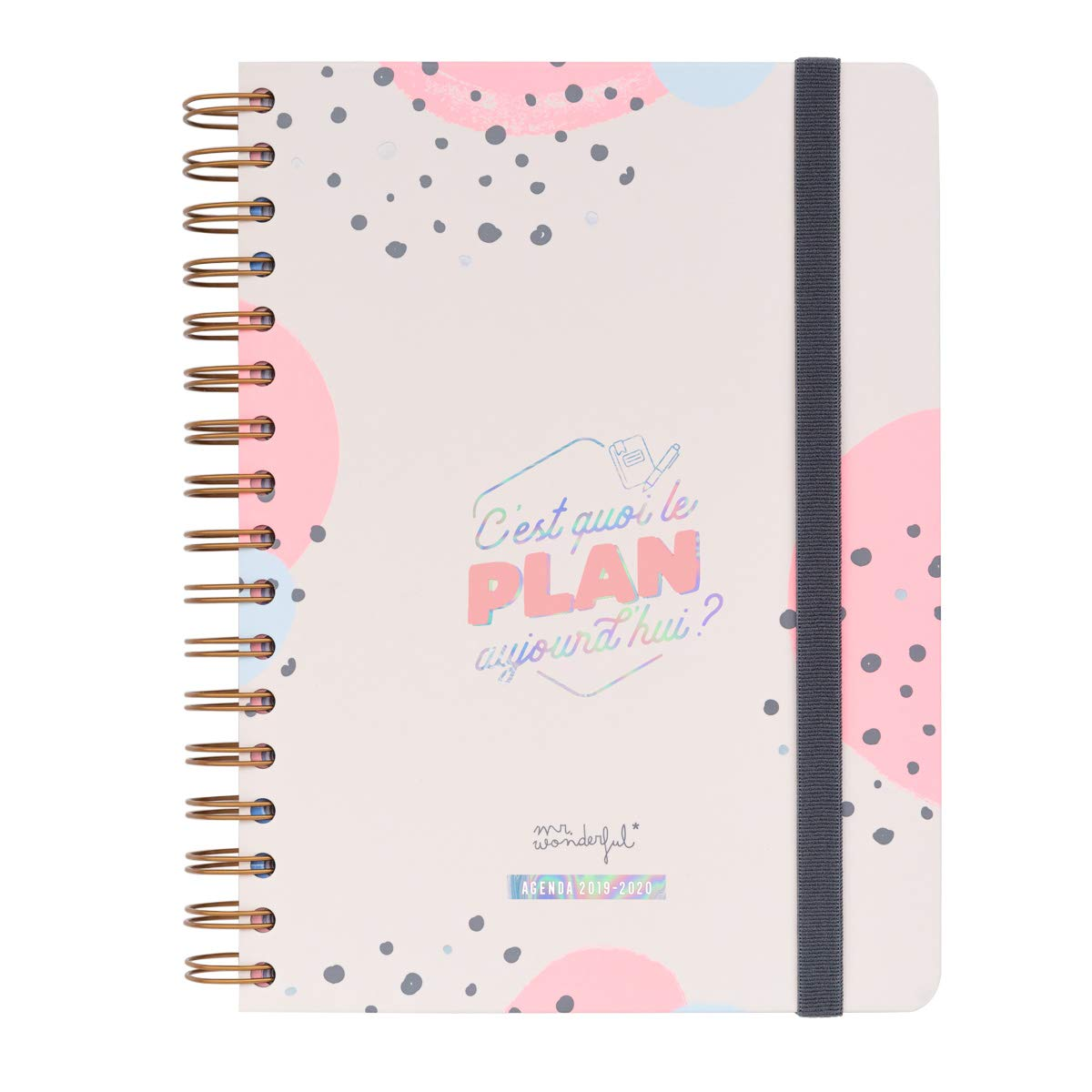 Mr. Wonderful Agenda clásica 2019-2020 – Agenda Diaria – Cest Quoi Le Plan