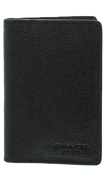 6a1e10937bc2 Amazon | COACH 【 コーチ メンズ/二つ折りカードケース F66574 QB/BK ...
