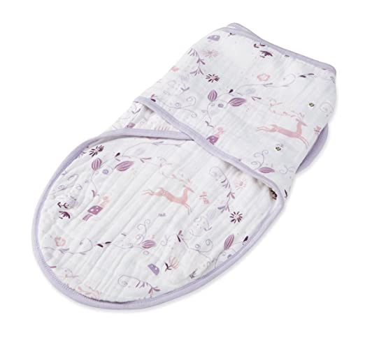 aden + anais Organic Easy Swaddle, Once Upon a Time, Small/Medium
